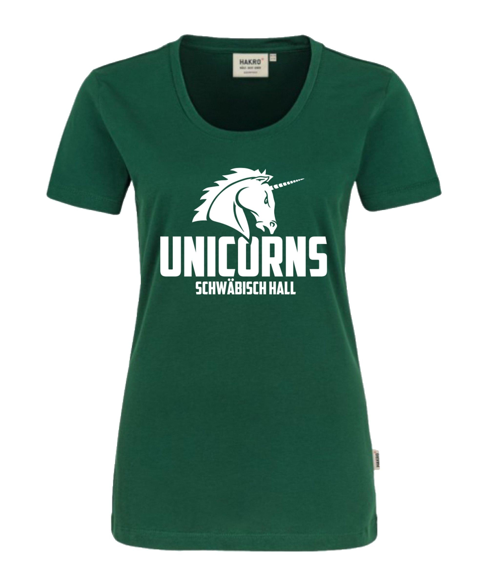 Unicorns Classic T-Shirt Damen Grün - gruen