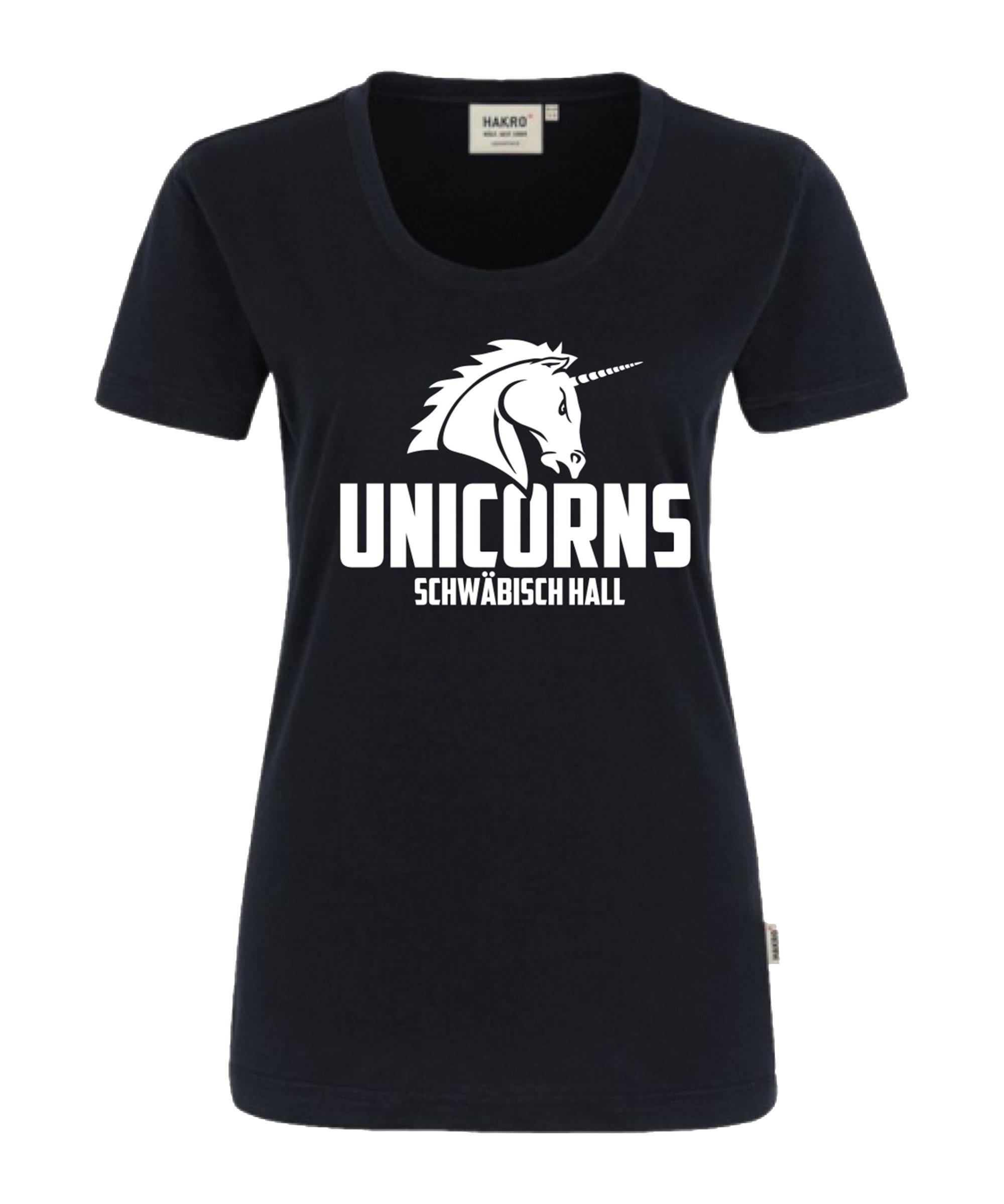 Unicorns Classic T-Shirt Damen Schwarz - schwarz