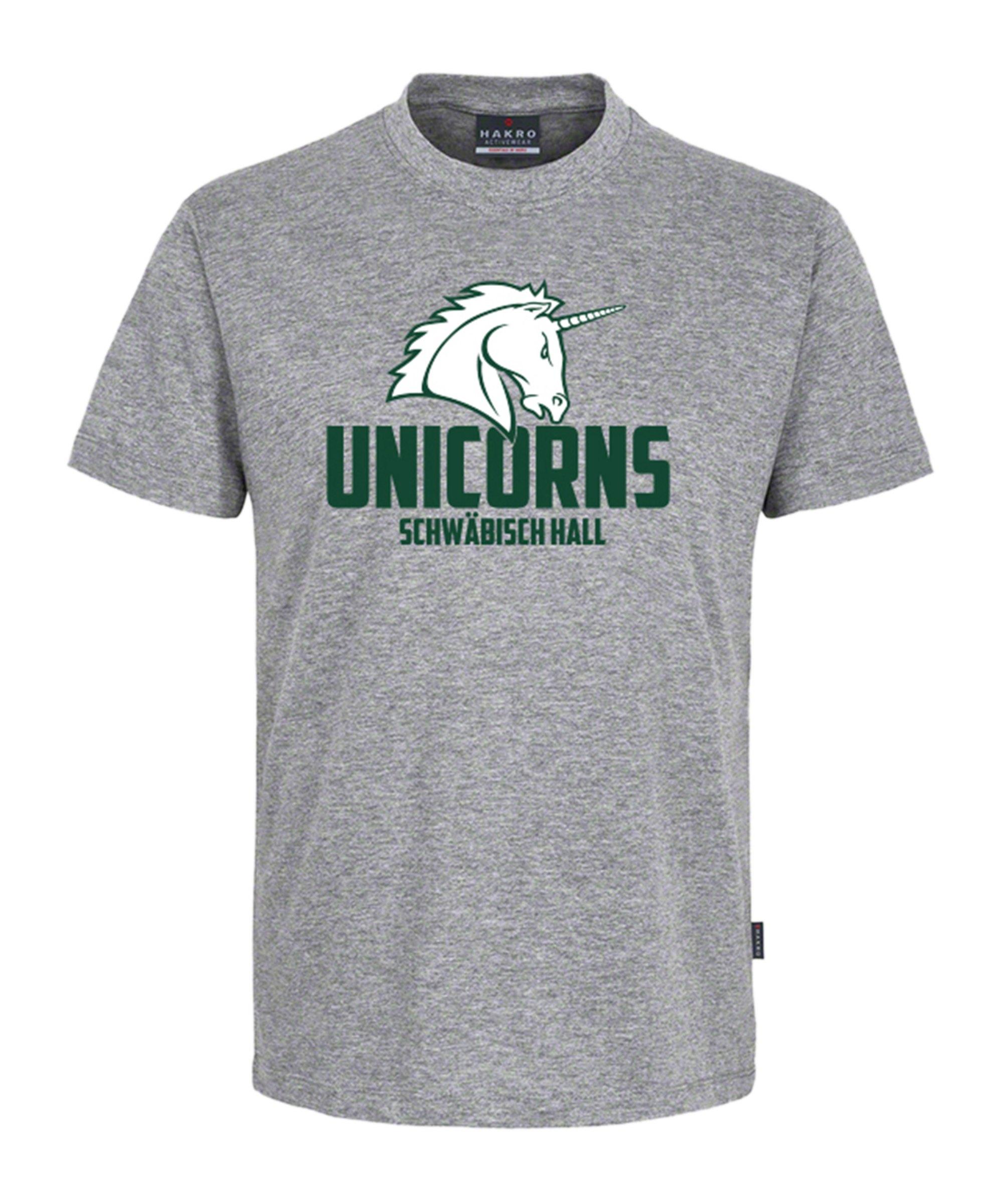 Unicorns Classic T-Shirt Tee Unicorn groß Grau - grau