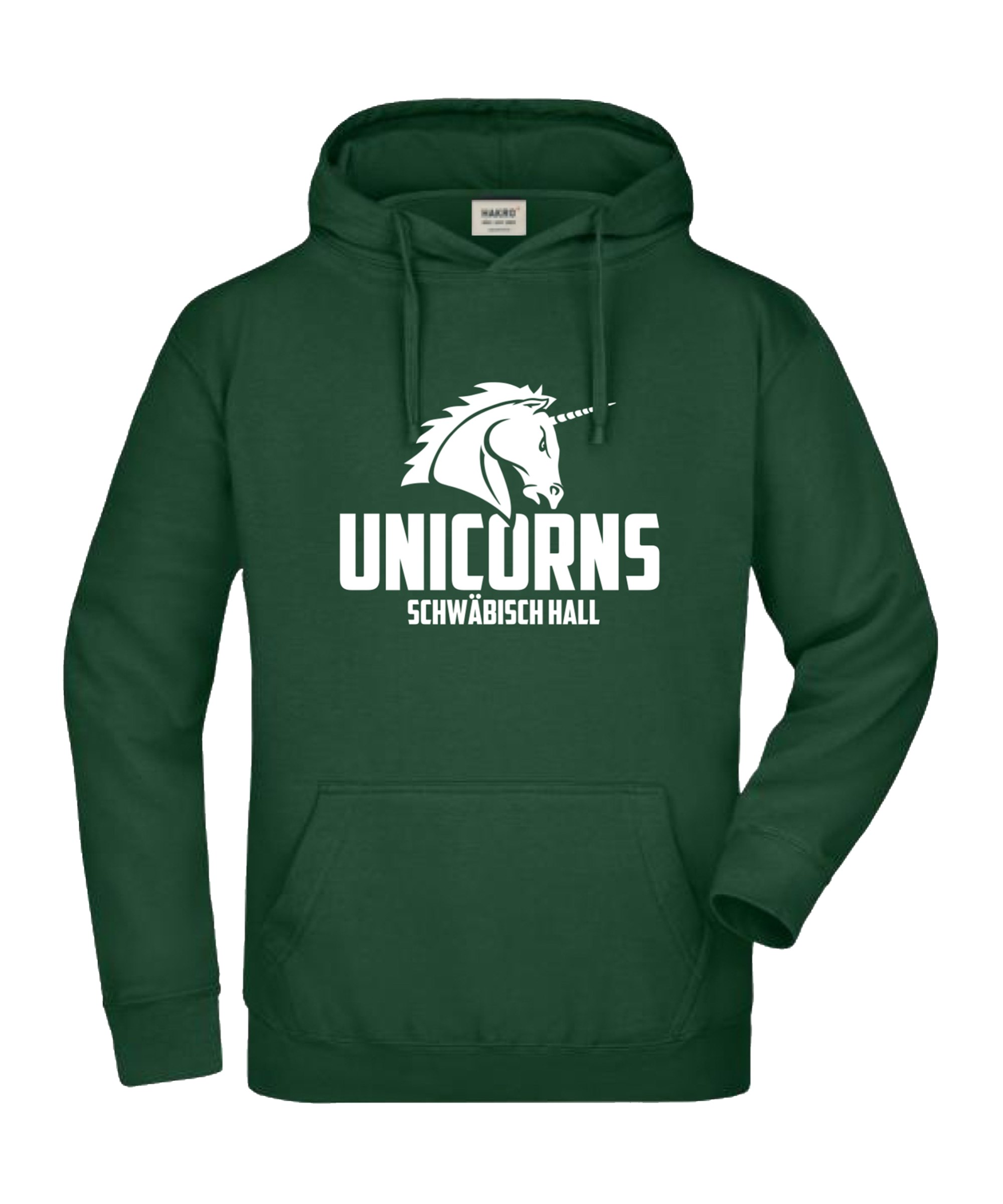 Unicorns Hoody Sweatshirt Premium Schwarz Weiss - schwarz
