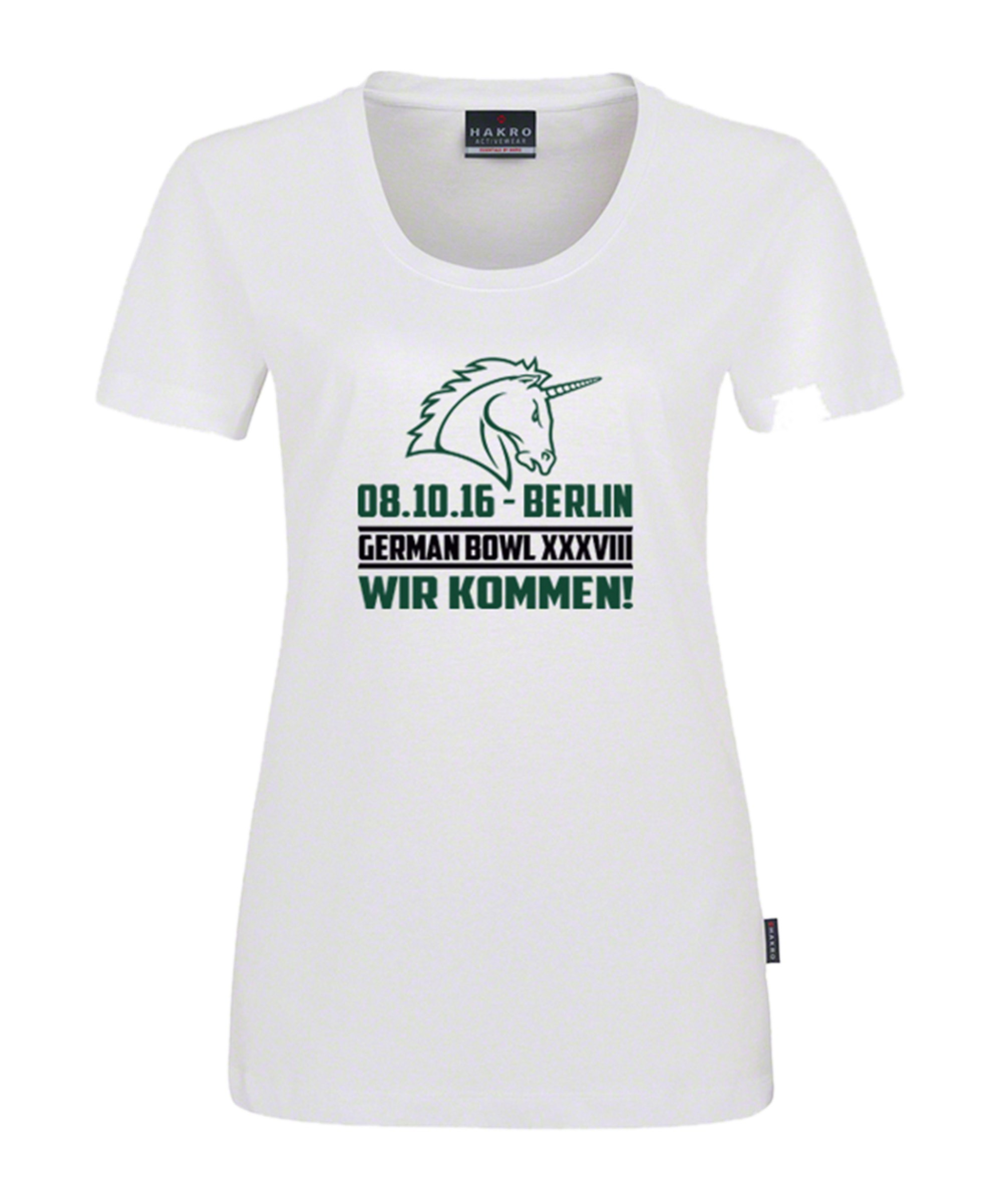 Unicorns T-Shirt Classic Damen German Bowl Weiss - weiss