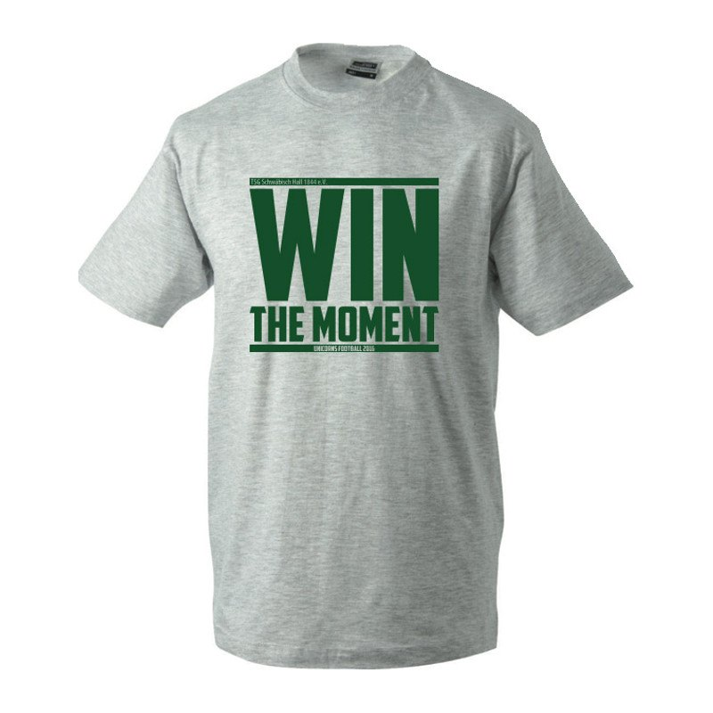 Unicorns T-Shirt Motto Win The Moment Grau - grau